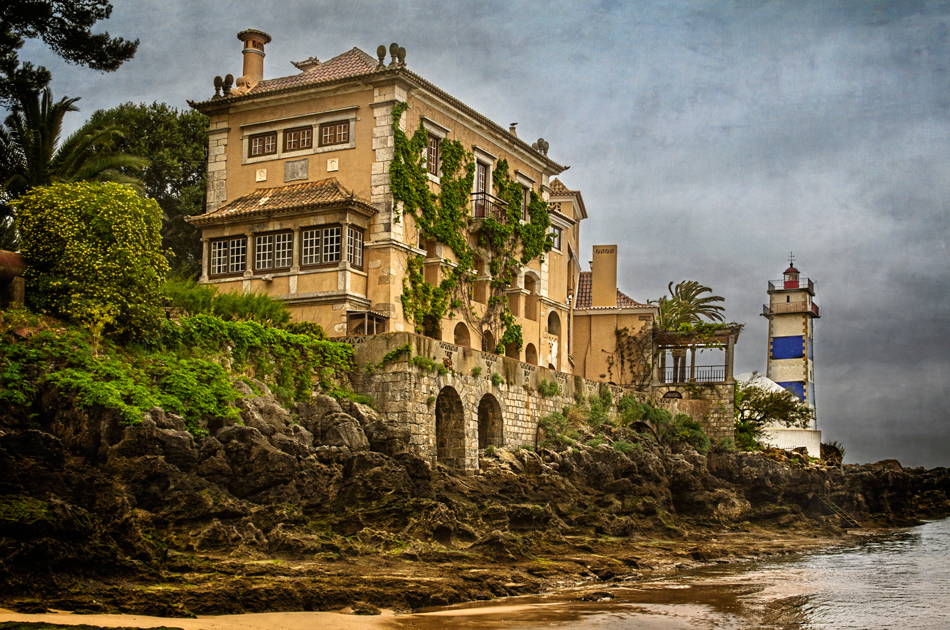 The Casa de Santa Maria, paired with the Santa Marta Lighthouse, was constructed in 1902 in Cascais, the cosmopolitan suburb of Lisbon.  I loved exploring this former Portuguese fishing village.  Charm and history were evident around every corner and hidden alleyways. A resort preserved  to explore and photograph.