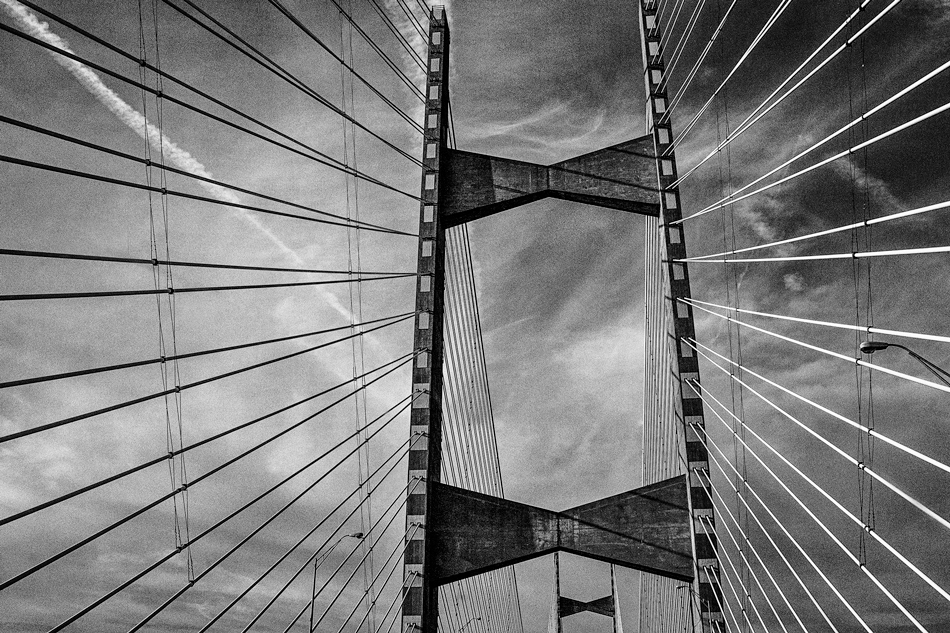 We were rewarded with ever changing perspectives as we crossed the Dames Point Bridge, high above the St. Johns River in Jacksonville, Florida.