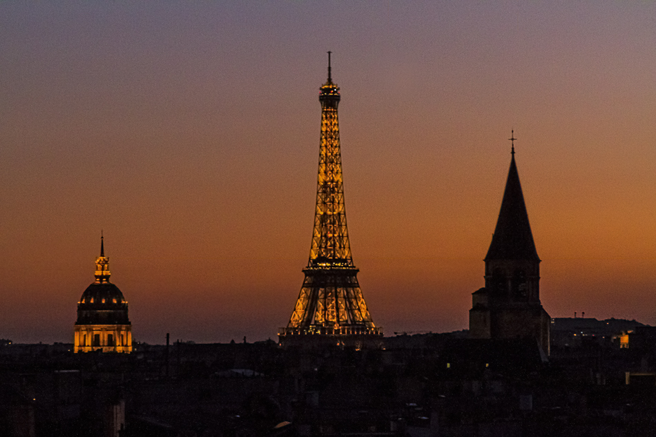 The view from our hotel was spectacular the first night we arrived in Paris.  What a welcome!